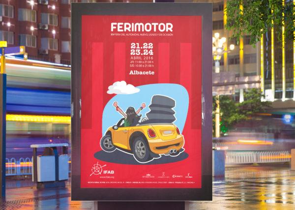 CARTEL FERIMOTOR - ILUSTRACIÓN