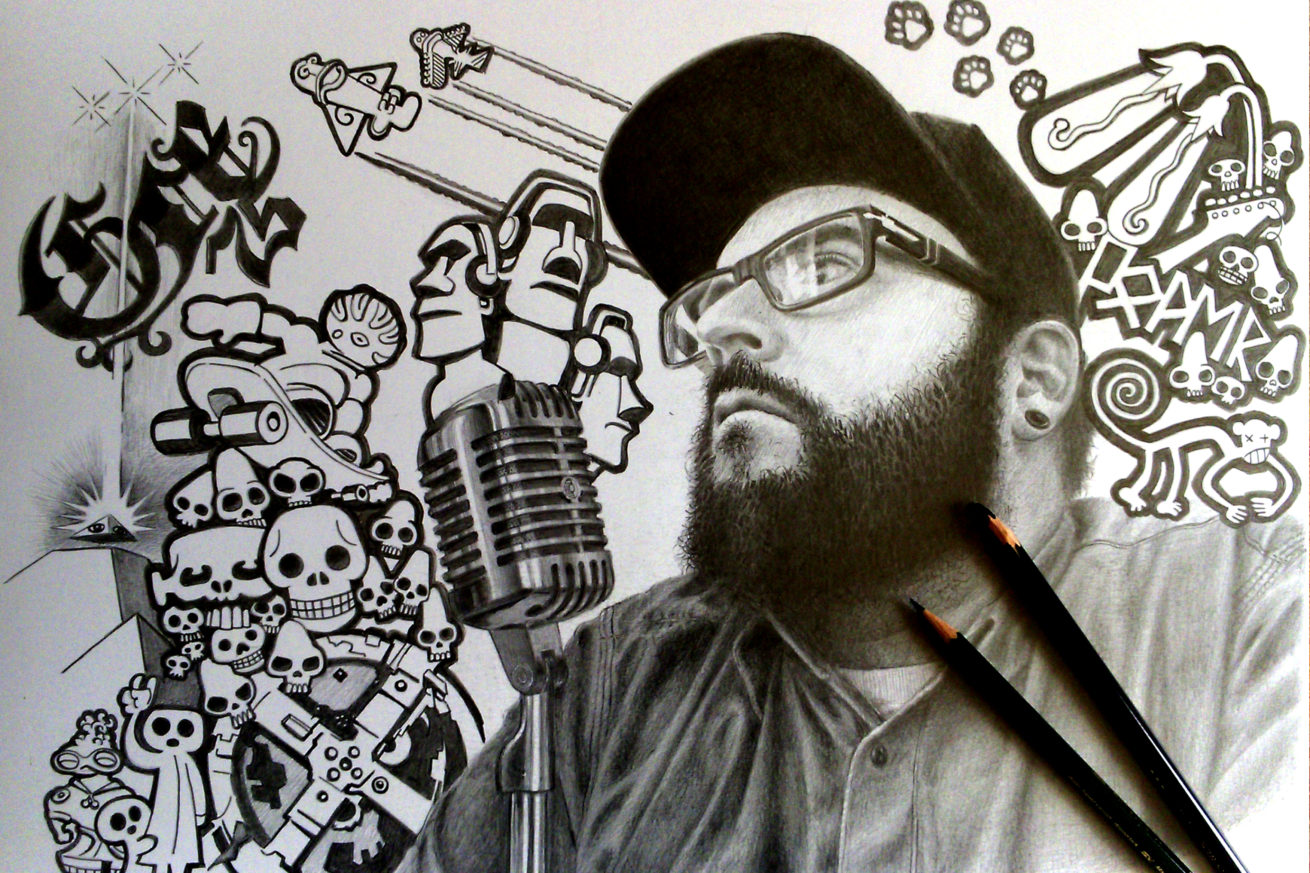 Retrato-con-Carboncillo - Juan Angel Ortiz
