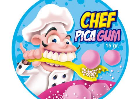 Chef Pica Gum - Poster - Juan Ángel Ortiz